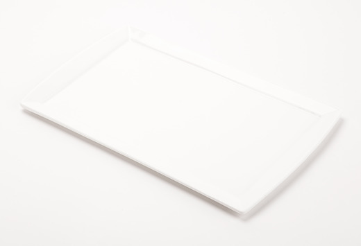 Solid White Rectangular Plate