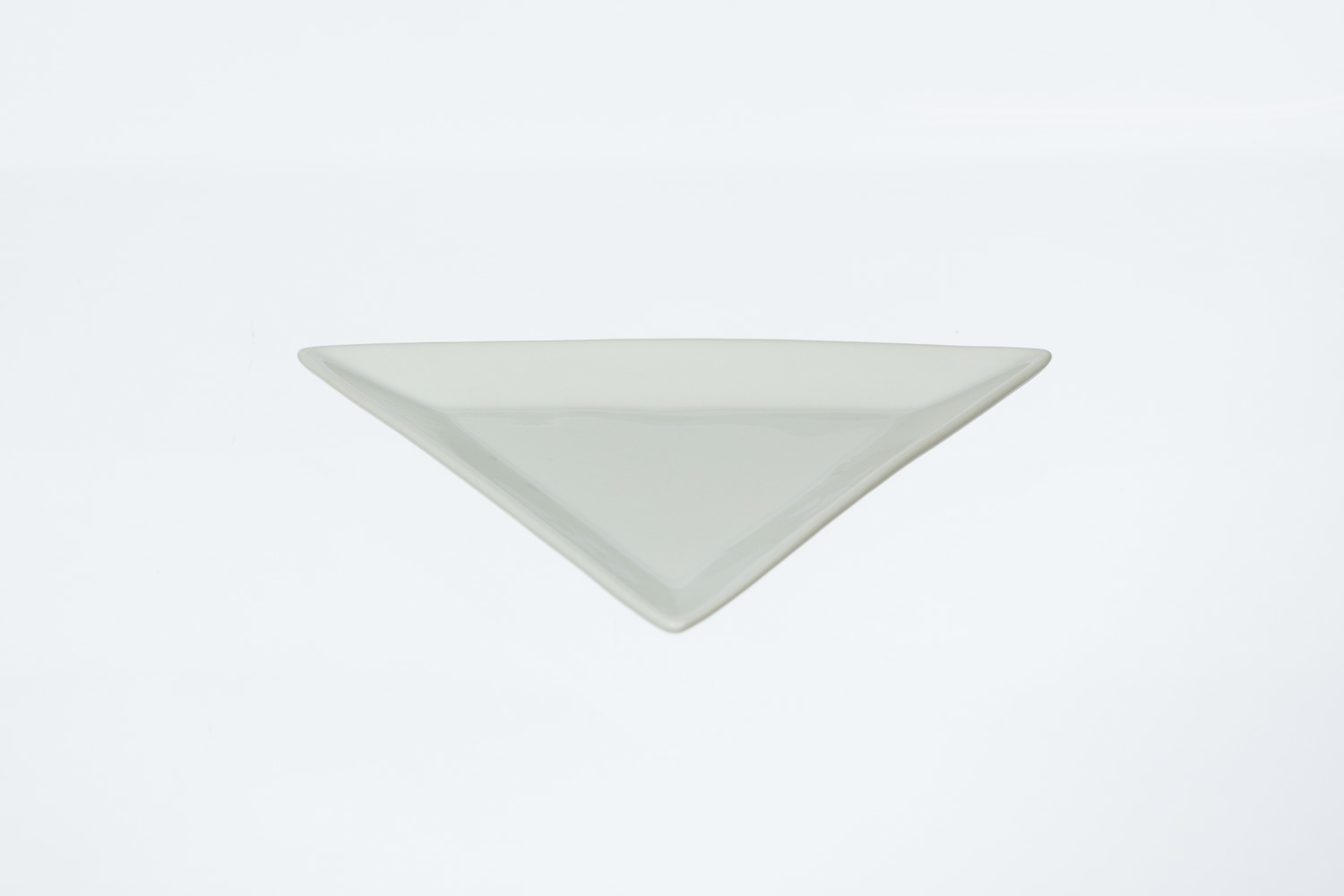 Solid White Triangle Plate