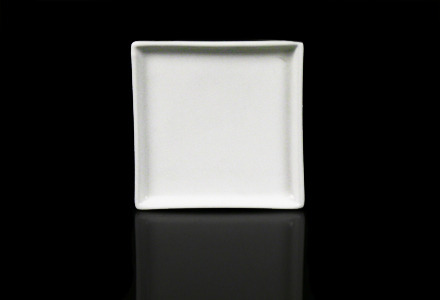 Solid White Square Tapas Plate
