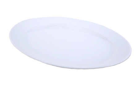 "Solid White Oval Serving Platter (10"" x 14"")"