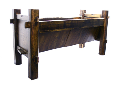 Wood Trough 063 (57 x 18 x 36)
