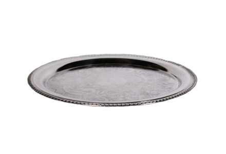 Silver Serving Tray 005 (16RND)