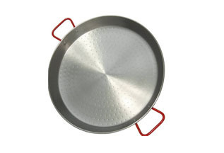 36 in. Round Stainless Paella Pan with Handles