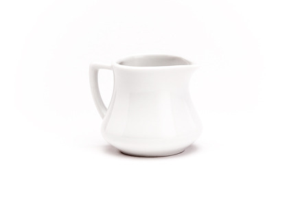 Solid White Coffee Creamer, Short
