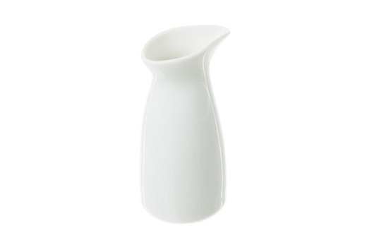 Solid White Coffee Creamer, Tall