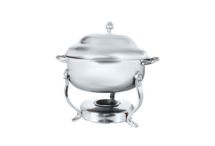 8 Qt Round Silver Chafing Dish