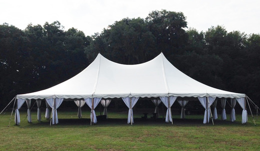 40 Wide Pole Tent & Tent - Pole Tents | Snyder Events | Charleston SCu0027s premier event ...