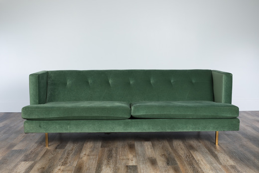 Charmant Emerald Green Velvet Sofa