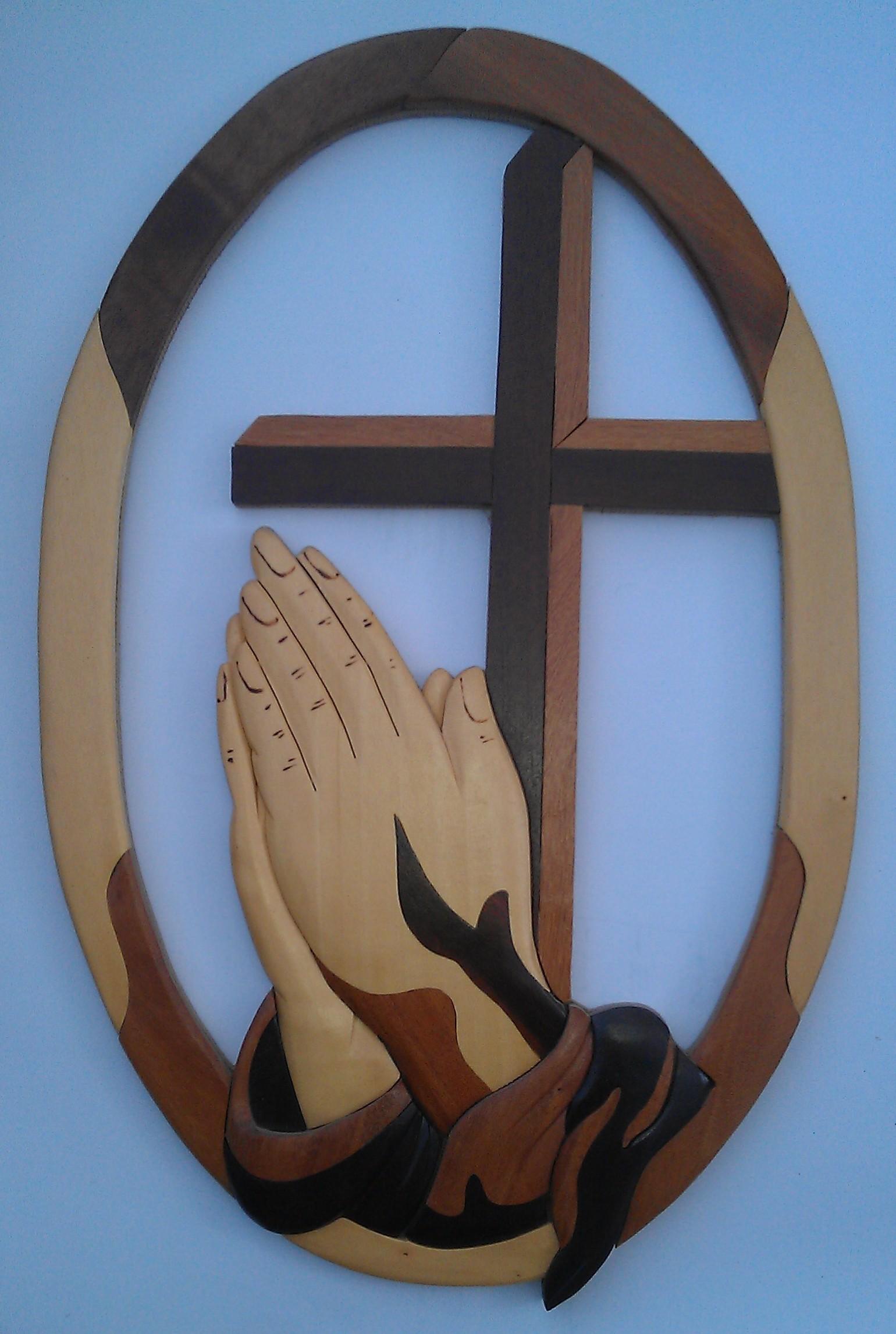 Prayer circle cross hands