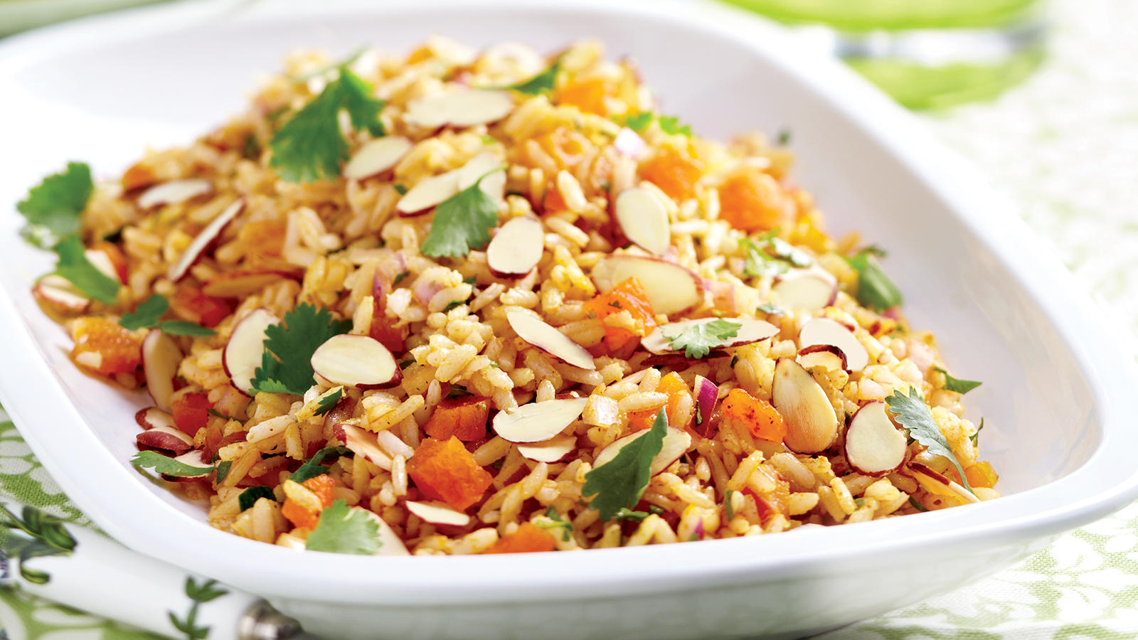 images Brown Rice Pilaf with Apricots and Almonds