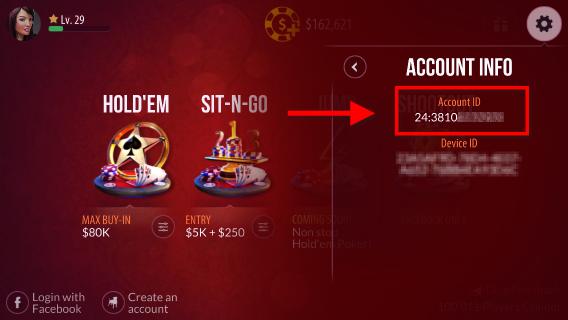 zynga poker login