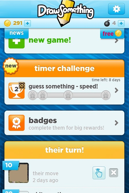 FAQ - Weekly Challenge — Draw Something and Speed Guess Something