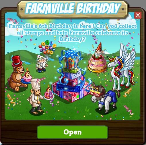 Official Guide: Walkthrough: FarmVille Birthday Countdown