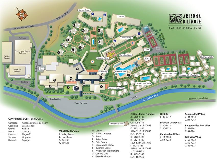 CCAS 2015 Annual Meeting Guide Arizona Biltmore Property Map