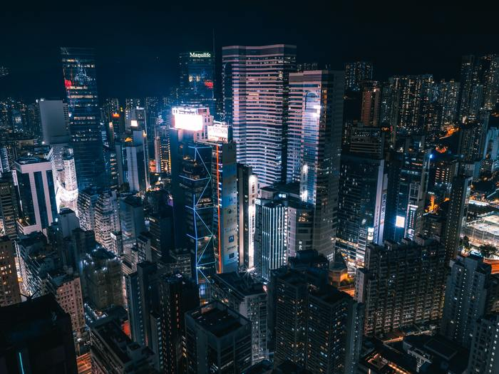 Aerial photography of cityscape during night 1738997