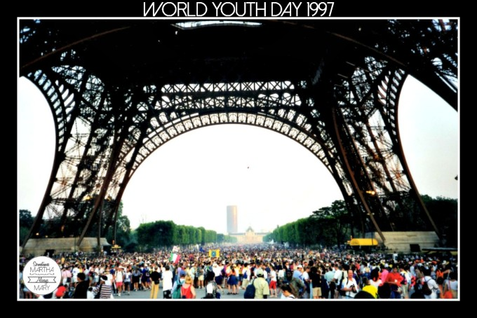Eiffel Tower JMJ 1997 opening