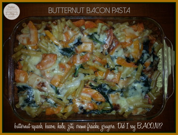 butternut bacon pasta SMAM