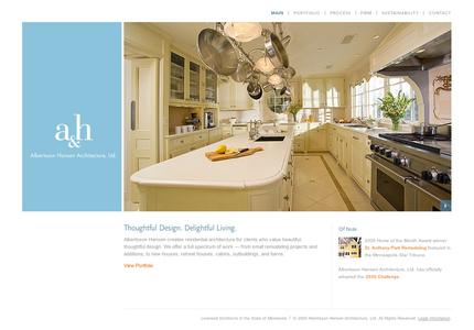 A great web design by Larsen