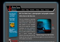A great web design by Chris Lane Photo