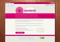 A great web design by CoreLand Studio