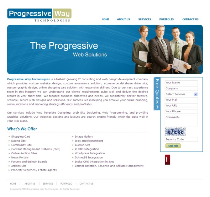 A great web design by Progressive way technologies