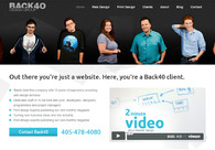 A great web design by Back40 Design