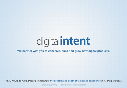 A great web design by Digital Intent