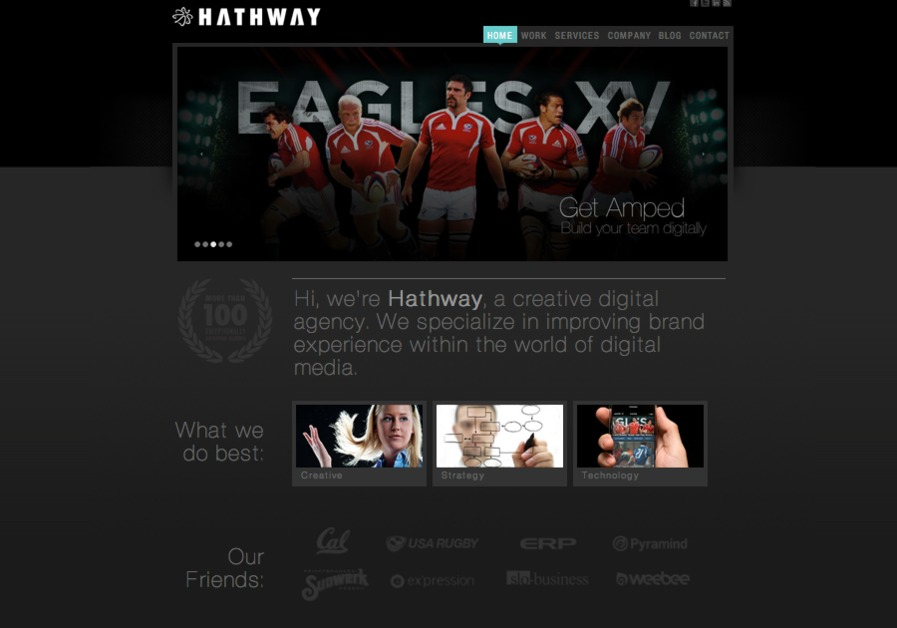 A great web design by Hathway