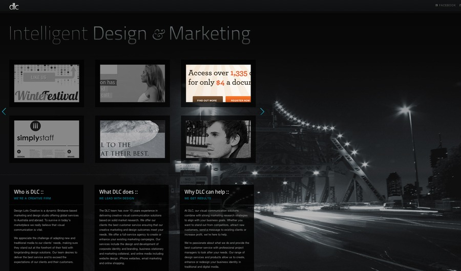 A great web design by Design Lots Creative (DLC)