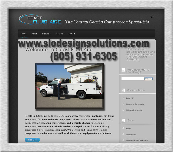 A great web design by SLO Design Solutions