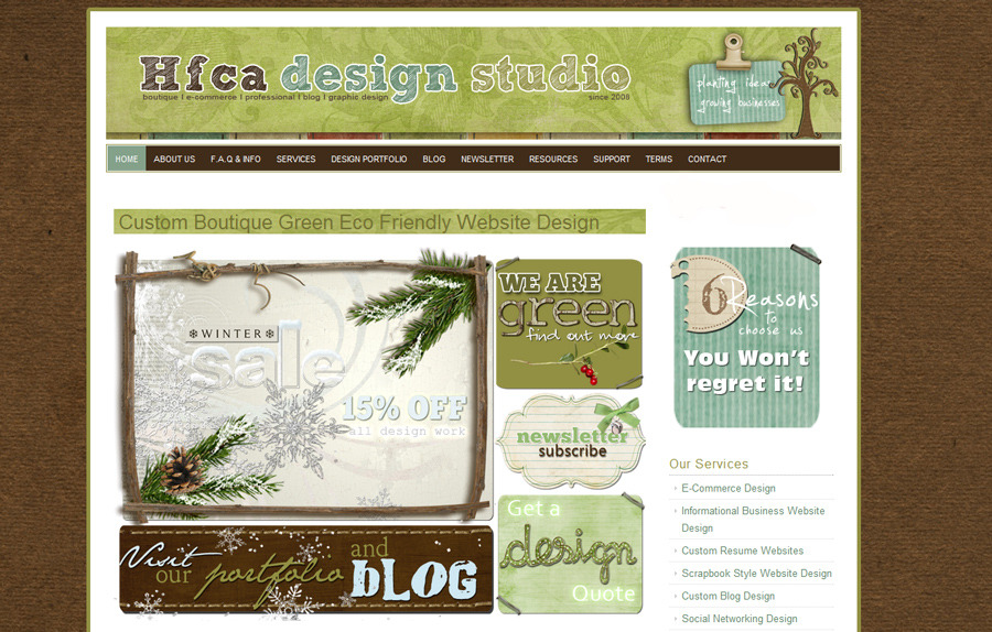 A great web design by HFCA Design Studio