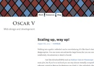 A great web design by Oscar V