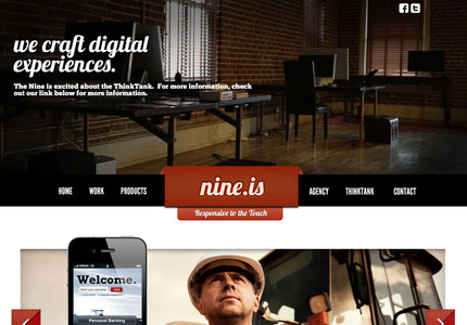 A great web design by Nine.is
