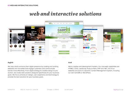 A great web design by kohactive