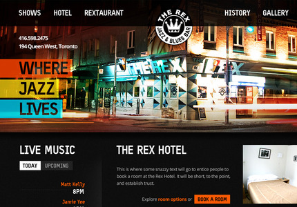 A great web design: Food & Beverage
