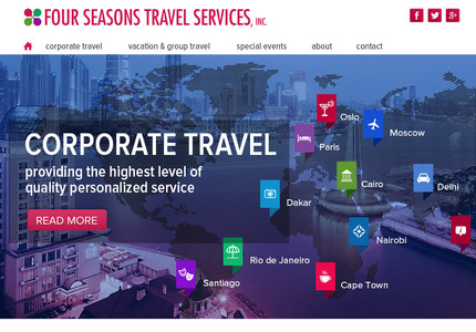 A great web design: Responsive Website, Marketing Website , Travel , PHP