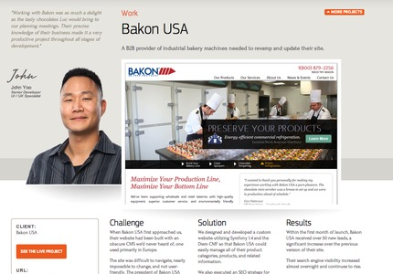 A great web design: Website, Marketing Website , Food & Beverage , PHP