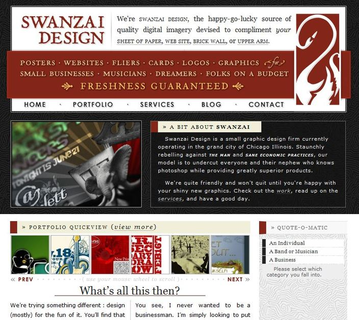 A great web design by Swanzai Design