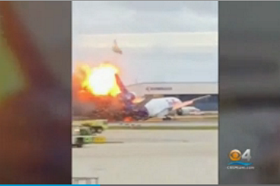 FedEx plane catches fire at Fort Lauderdale airport