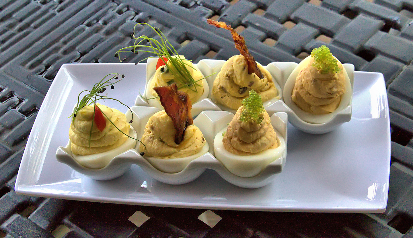 A Trio Of Deviled Eggs Recipe — Dishmaps