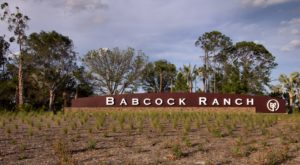 Babcock Ranch welcome sign