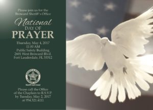 Join BSO on the National Day of Prayer @ Broward Sheriff's Public Safety Building | Fort Lauderdale | Florida | United States