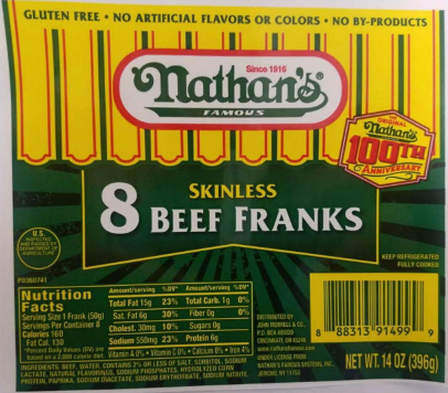 Nathan's, Curtis hot dogs recalled for possible metal contamination