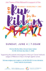 Sixth Annual Run For The Ribbons At The Lynn Cancer Institute @ Sandler Pavilion at the Lynn Cancer Institute | Boca Raton | Florida | United States