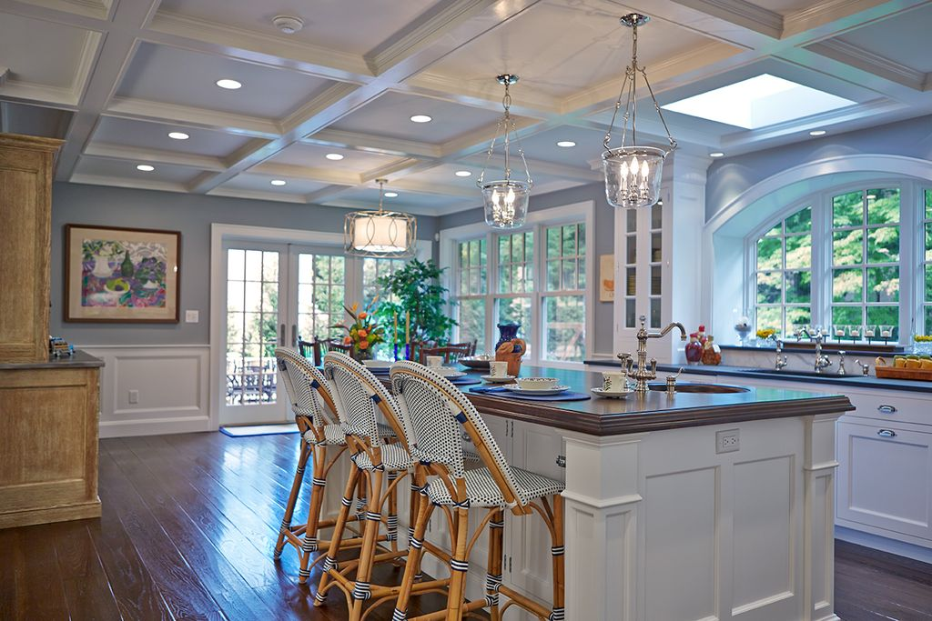 Blue kitchens: Homes with blue kitchens, often found in soft gray-blue, sold for a $1,809 premium.
