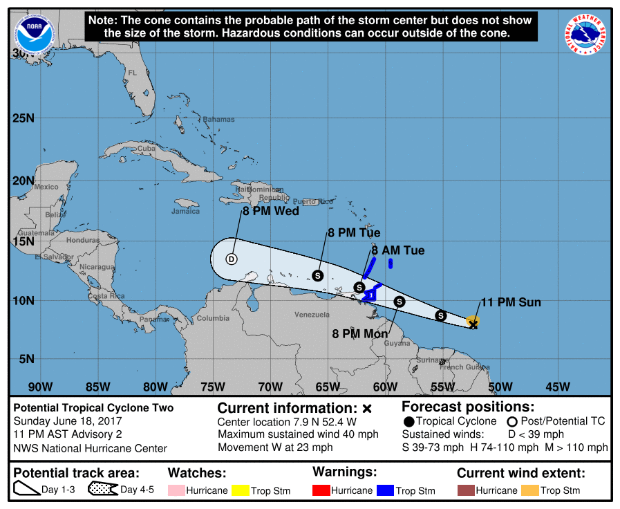Weather system upgraded to Tropical Storm Bret