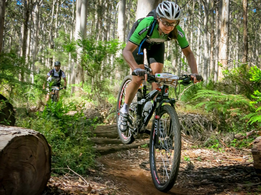 Alison Ramm flies high on the single track