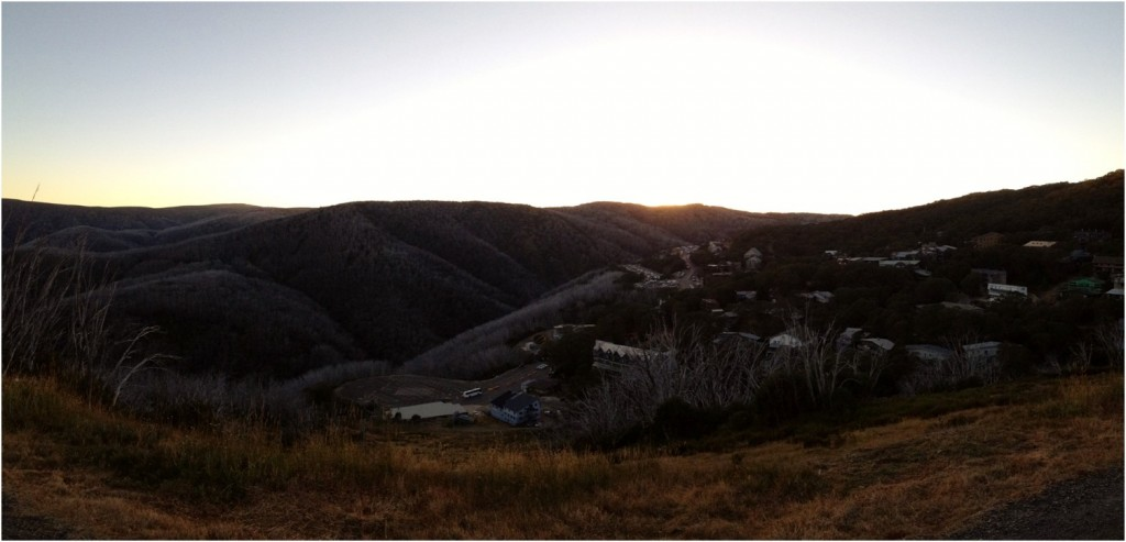 A view of Falls Creek at sunrise a day after Three Peaks Challenge, it was priceless.