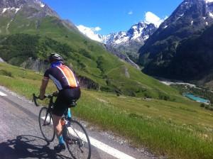 Jerard climbing the Col du Lauteret