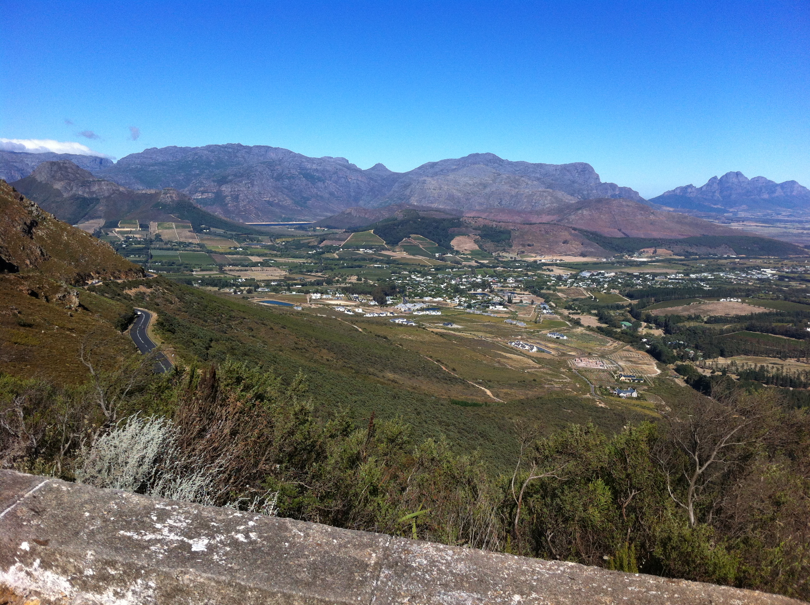view from Franschoek Pass